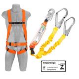 Cinto Segurança Paraquedista C/ Talabarte Y Com Absorvedor