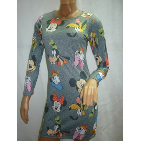 Vestido Disney Manga Corta , Manga Larga.