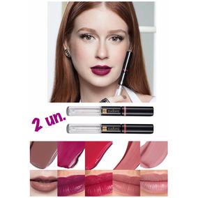Kit 2 Un. Lip Tint Batom Líquido Eudora Duo. Escolha Cores