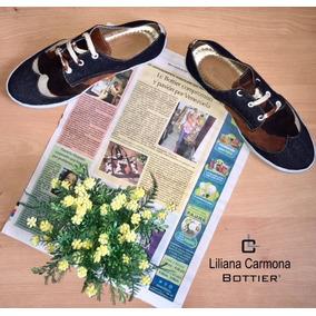 Zapato Mujer Bottier Sport Jeans X Vaca