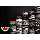 Washi Tape Masking Deco Papel Scrapbooking Blanco Y Negro