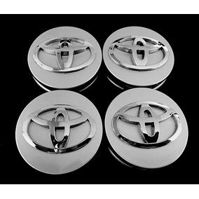 4x Centro Tapón Rin Para Toyota 62mm Plata - Envío Gratis