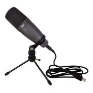 Microfono Condenser Novik Fnk 02u Usb Estudio Soporte Cable