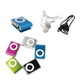 Reproductor Mp3 Shuffle Para Memoria Sd + Audifonos + Usb