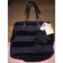 Bolsa Juicy Couture Original Negra Seda Velour Envio Gratis