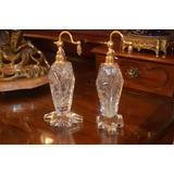 2 Perfumeros Antiguos Cristal Tallado. El Precio Es Por C/u
