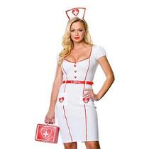 Disfraz Adulto Enfermera Sexy Mujer Erotico Halloween Vestid