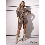 Vestido Blazer Com Detalhe De Paetê  Perfect Way