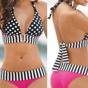 Biquine Vintage Retrô Bikini Bolinha Roupa Banho