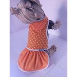 Roupinhas Para Cachorro E Gato Vestido Bolinha Pinche