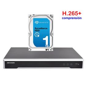 Dvr Hikvision Nvr 8 Megapixel (4k) / 16 Disco Duro 1tb Cctv