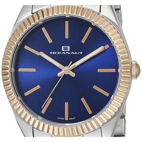 Reloj Oceanaut Oc7414 Dorado Dama Mujer Gold Woman Plateado