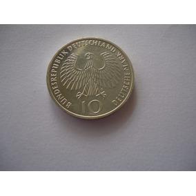 Moeda Prata 10 Dez Mark Marco F 1972 Alemanha Xx Olimpiada