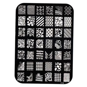 Placa Metálica P/ Carimbo Unha Decorada Artística Nail Art G