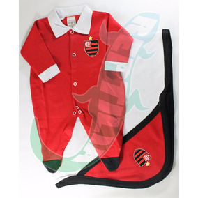 Kit Flamengo Bebê Saída De Maternidade Enxoval