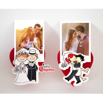 Souvenirs De Boda Casamiento Brochecitos Madera Iman Foto