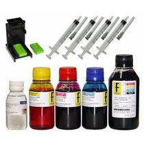 650ml -kit Tinta Recarga Cartuchos Impressora Hp + Snap Fil