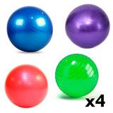 Pack 4 Pelota Pilates 85cm + 4 Infladores Fitball Yoga