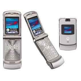 Motorola Razr V3 Skin Vinil 360 Fibra De Carbono