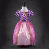 Vestido Fantasia Infantil Rapunzel Enrolados