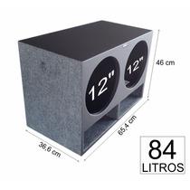 Caixa De Som P/ Carro Dutada Ultravox 2k2 Pancadão Mdf18 84l