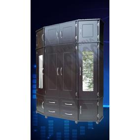Ropero Tipo Closet 3/piezas 1,60mts Rodajas Color Chocolate