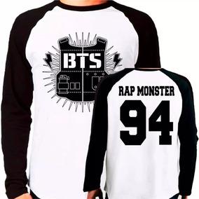 Camiseta Blusa Kpop Bangtan Boys Bts Rap Monster Raglan Long