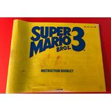 Instructivo Súper Mario Bros 3 Nintendo