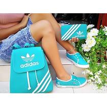 Zapatilla Tenis+bolso+billetera Combo Mujer Calidad Colombia