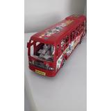 Miniatura De Ônibus Vermelha 26cms