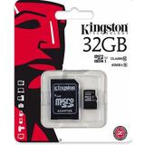 Tarjeta Micro Sd 32gb Con Adaptador Sd Clase 10 Kingston