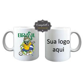Caneca De Porcelana Copa Do Mundo + Brinde-50 Unidades