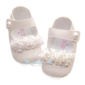 Zapatos Hermoso Bautizo Lujo Ceremonia Elegante Niñas 15-27