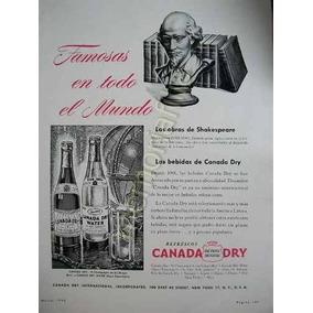 Publicidad Antigua Canada Dry Refresco Marzo 1945