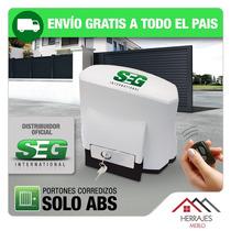 Motor Porton Corredizo Seg Abs 400kg. Automatizacion Oficial