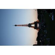 Cuadro 5-torre Eiffel-paris-atardecer-3 20x32 C/marco Madera