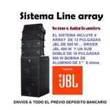 Sistema Line Array Aereo 4800 Watt Completo Productos Jbl