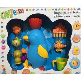 Pinguino Juego Para El Agua Con Sopapa Ok Baby 0154