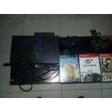 Consola Play Statión 2 +cables+2controles+disco Duro 120gb