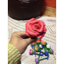 Caneta Flor / Rosa Em Eva (diversas Cores)