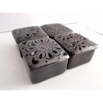 Barro Negro De Oaxaca Juego Alhajeros Miniatura. Para Anillo