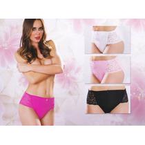 Paquete De 3 Pantaleta Panty Clasica De Encaje Y Lycra 527