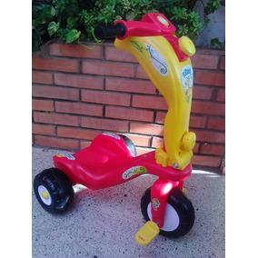 Carro Moto Triciclo Patineta 2 En 1niños Y Niñas. Montables