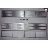 Ralo Linear 15x100 Cm Grelha Com Suporte Pluvial Alumínio