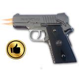 Encendedor Pistola Doble Flama Inoxidable Moderno