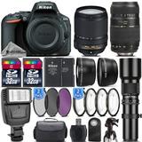 Camara Nikon D7500 Kit 18-55 Vr + 70-300 + 500m