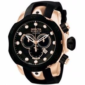 Relógio Invicta Venom 0361 Rosê Pulseira Preta