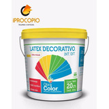 Latex Lavable Ext. Int. Obra Color Balde 20 Lts - Iprocopio