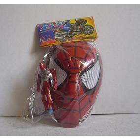 Spiderman Hombre Araña Y Mascara - Juguete Plastico Bootleg