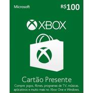 Xbox Microsoft R$ 100 Reais Código Digital Brasil